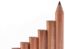 διάνυσμα μολυβιών σκαλών απεικόνισης Στοκ Εικόνα
