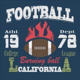 Διάνυσμα μπλουζών αθλητικής τυπογραφίας Καλιφόρνιας Στοκ φωτογραφία με δικαίωμα ελεύθερης χρήσης