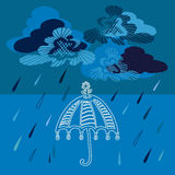 διάνυσμα ομπρελών βροχής απεικόνισης Στοκ εικόνες με δικαίωμα ελεύθερης χρήσης
