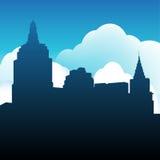 διάνυσμα οριζόντων σχεδίου πόλεων ανασκόπησής σας Στοκ φωτογραφία με δικαίωμα ελεύθερης χρήσης