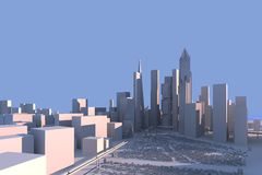 διάνυσμα οριζόντων σχεδίου πόλεων ανασκόπησής σας Στοκ εικόνα με δικαίωμα ελεύθερης χρήσης