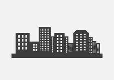 διάνυσμα οριζόντων σχεδίου πόλεων ανασκόπησής σας Στοκ Εικόνα