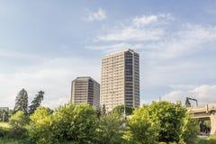 διάνυσμα οριζόντων σχεδίου πόλεων ανασκόπησής σας Στοκ Εικόνες
