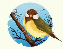 διάνυσμα 3 πουλιών κινούμενων σχεδίων σειρών απεικόνισης Διανυσματική απεικόνιση