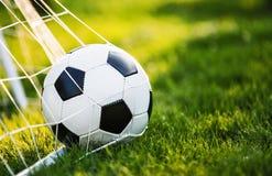 διάνυσμα ποδοσφαίρου στόχου σφαιρών Στοκ Εικόνες