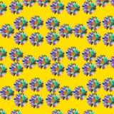 διάνυσμα προτύπων απεικόνισης λουλουδιών χρωμάτων Στοκ Εικόνα