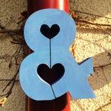 διάνυσμα σημαδιών πλέγματος αγάπης Στοκ Εικόνες