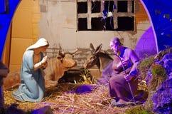 διάνυσμα σκηνής nativity απεικόνισης Χριστουγέννων Στοκ Εικόνα