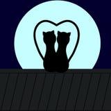 διάνυσμα στεγών απεικόνισης γατών Στοκ Εικόνα