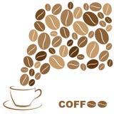διάνυσμα στοιχείων σχεδίου καφέ ανασκόπησης Στοκ Εικόνες