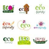 διάνυσμα στοιχείων eco σχε&delt Στοκ εικόνες με δικαίωμα ελεύθερης χρήσης