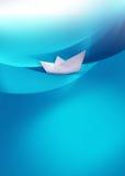 διάνυσμα σχεδίου εγγράφου origami κατασκευής σχεδιαγράμματος βαρκών Στοκ Φωτογραφίες