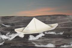 διάνυσμα σχεδίου εγγράφου origami κατασκευής σχεδιαγράμματος βαρκών Στοκ φωτογραφία με δικαίωμα ελεύθερης χρήσης