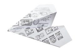 διάνυσμα σχεδίου εγγράφου origami κατασκευής σχεδιαγράμματος απεικόνισης αεροπλάνων Στοκ φωτογραφίες με δικαίωμα ελεύθερης χρήσης