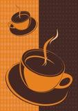 διάνυσμα φλυτζανιών καφέ Στοκ Εικόνα