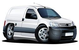 διάνυσμα φορτηγών παράδοσης κινούμενων σχεδίων Στοκ Εικόνα