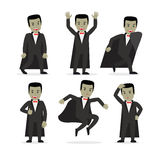Διάνυσμα χαρακτήρα κινουμένων σχεδίων βαμπίρ Dracula Στοκ φωτογραφίες με δικαίωμα ελεύθερης χρήσης