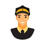 Διάνυσμα χαρακτήρα ταξιτζήδων σοφέρ λιμουζινών Στοκ φωτογραφίες με δικαίωμα ελεύθερης χρήσης