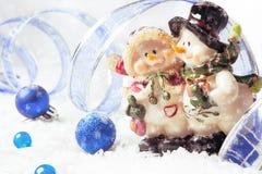 διάνυσμα χιονανθρώπων απεικόνισης Χριστουγέννων ανασκόπησης Στοκ Εικόνες