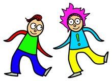 Διάνυσμα χορού παιδιών κινούμενων σχεδίων Στοκ εικόνα με δικαίωμα ελεύθερης χρήσης