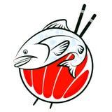 Διάνυσμα ψαριών σουσιών Στοκ εικόνα με δικαίωμα ελεύθερης χρήσης