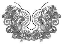 διάνυσμα neckline απεικόνισης μόδας κεντητικής απομονωμένο oac πρότυπο παραδοσιακός Ουκρανός διακοσμήσεων αυγών Πάσχας Στοκ Φωτογραφίες