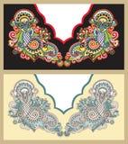 διάνυσμα neckline απεικόνισης μόδας κεντητικής Στοκ εικόνες με δικαίωμα ελεύθερης χρήσης