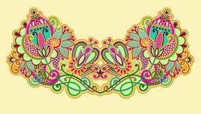 διάνυσμα neckline απεικόνισης μόδας κεντητικής Στοκ εικόνα με δικαίωμα ελεύθερης χρήσης