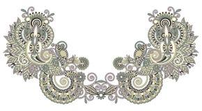 διάνυσμα neckline απεικόνισης μόδας κεντητικής Στοκ Φωτογραφίες