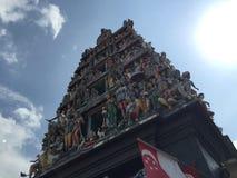 διάσημη τέχνη ναών Σινγκαπούρης Στοκ Φωτογραφία