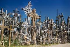 Διάσημο Hill των σταυρών στη Λιθουανία Στοκ Φωτογραφίες