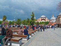 διάσημο sophia της Κωνσταντινούπολης hagia Την προηγούμενη μέρα Πάσχα Στοκ Εικόνα