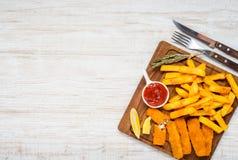 Διάστημα αντιγράφων με το γρήγορο φαγητό Στοκ Φωτογραφίες