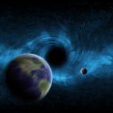 διάστημα μαύρων τρυπών διανυσματική απεικόνιση