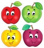 Διάφορη συλλογή 3 μήλων Στοκ Εικόνες