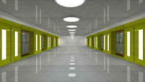 διάδρομος φουτουριστικός Στοκ φωτογραφία με δικαίωμα ελεύθερης χρήσης