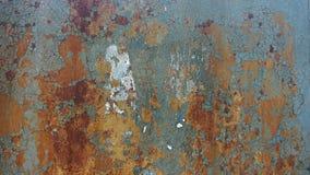 διαβρωμένο ανασκόπηση μέτα& Σκουριασμένο υπόβαθρο μετάλλων με τις ραβδώσεις των λεκέδων σκουριάς σκουριάς Rystycorrosion Στοκ Εικόνες