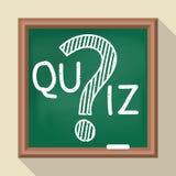 διαγωνισμός γνώσεων στο σχολικό πίνακα απεικόνιση αποθεμάτων