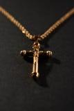 διαγώνιος χρυσός αλυσίδων Στοκ Φωτογραφία