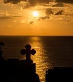διαγώνιο ηλιοβασίλεμα Στοκ Φωτογραφίες