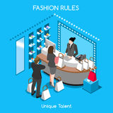 Διαθέσεις μόδας 07 άνθρωποι Isometric Στοκ εικόνα με δικαίωμα ελεύθερης χρήσης