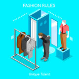 Διαθέσεις μόδας 04 άνθρωποι Isometric Στοκ Εικόνες