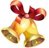 διαθέσιμο διάνυσμα απεικόνισης Χριστουγέννων κουδουνιών Στοκ Εικόνες