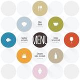 διαθέσιμο διάνυσμα εστιατορίων καταλόγων επιλογής σχεδίου Στοκ φωτογραφία με δικαίωμα ελεύθερης χρήσης