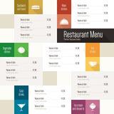 διαθέσιμο διάνυσμα εστιατορίων καταλόγων επιλογής σχεδίου Στοκ Εικόνες