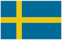 διαθέσιμο διάνυσμα της Σουηδίας ύφους γυαλιού σημαιών Στοκ εικόνα με δικαίωμα ελεύθερης χρήσης