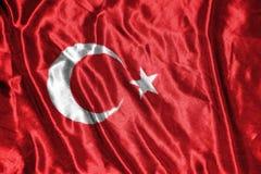 διαθέσιμο διάνυσμα της Τουρκίας ύφους γυαλιού σημαιών σημαία στο υπόβαθρο Στοκ Φωτογραφία