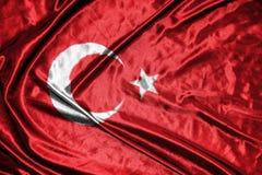 διαθέσιμο διάνυσμα της Τουρκίας ύφους γυαλιού σημαιών σημαία στο υπόβαθρο Στοκ φωτογραφία με δικαίωμα ελεύθερης χρήσης