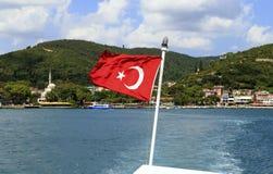 διαθέσιμο διάνυσμα της Τουρκίας ύφους γυαλιού σημαιών Στοκ εικόνα με δικαίωμα ελεύθερης χρήσης