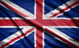 διαθέσιμο διάνυσμα ύφους γυαλιού σημαιών της Αγγλίας σημαία στο υπόβαθρο Στοκ Εικόνα